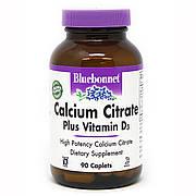 Кальций цитрат + Витамин D3, Bluebonnet Nutrition, 90 каплет