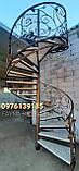 Винтовая кованая, поворотная лестница. Сходи., фото 2