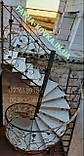 Винтовая кованая, поворотная лестница. Сходи., фото 3