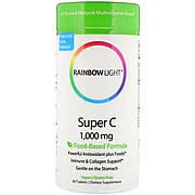 Витамин С, Super C, Rainbow Light, 60 таблеток