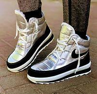 Кроссовки Высокие Ботинки НЕпромокаемые на Меху Зимние Эко кожа 39