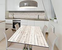 Наклейка 3Д виниловая на стол Zatarga «Узкая доска» 650х1200 мм для домов, квартир, столов, кофейн, кафе