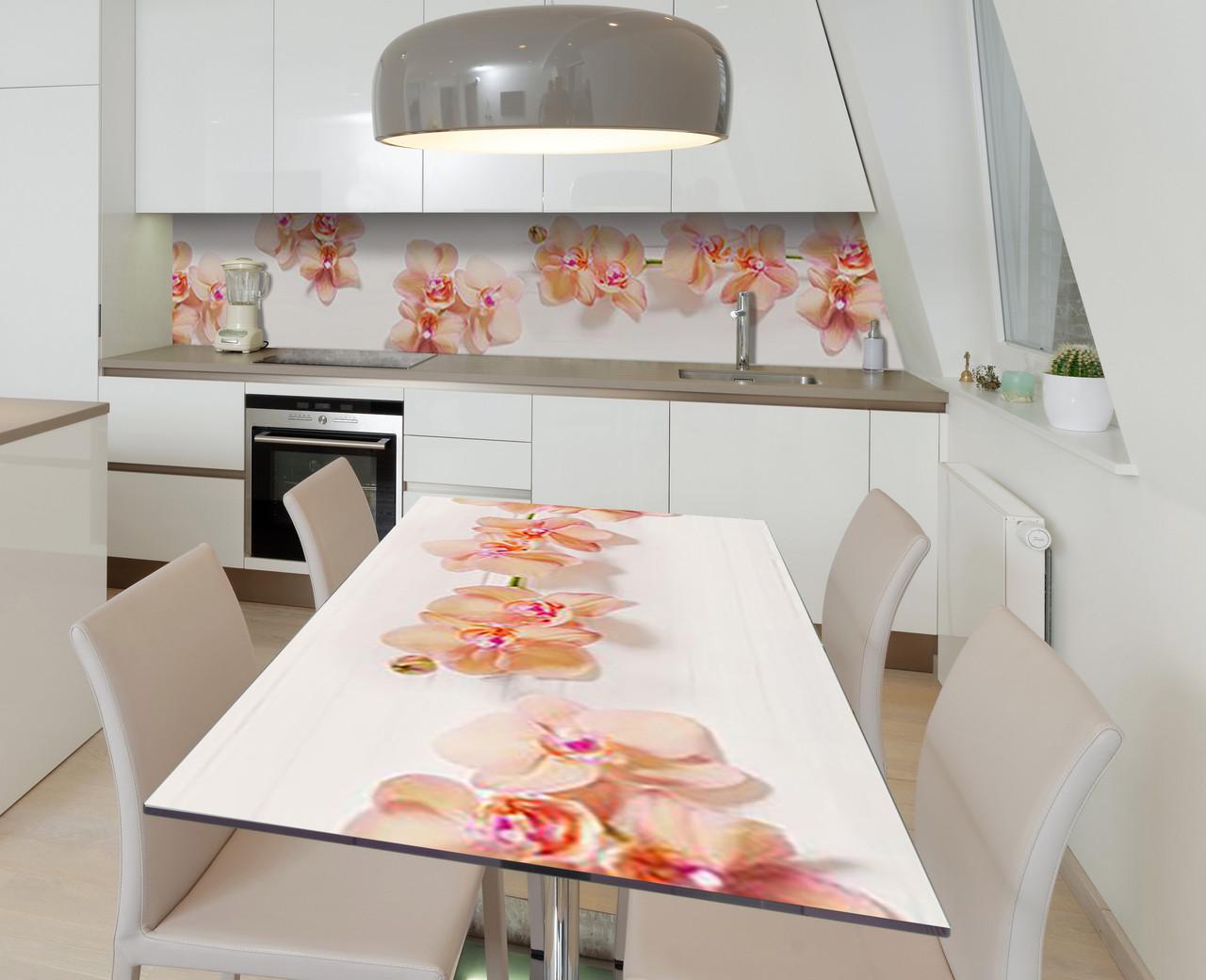 Наліпка 3Д виниловая на стол Zatarga «По кремовым следам» 650х1200 мм для домов, квартир, столов, кофейн,