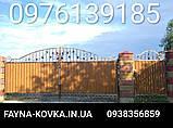 Ворота ковані закриті профнастилом 6229, фото 2