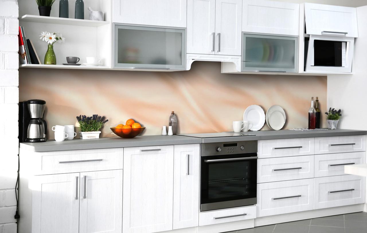 Скинали на кухню Zatarga «Рожевий шовк» 600х2500 мм вінілова 3Д Наліпка кухонний фартух самоклеюча