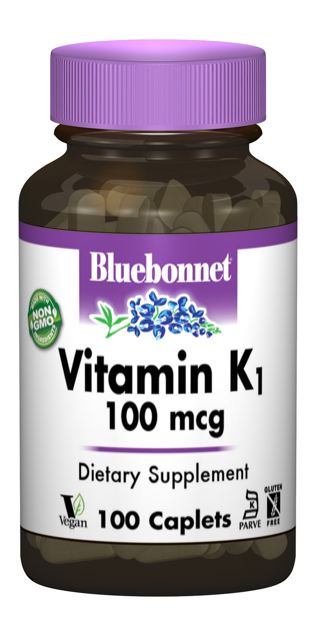 Витамин К1 100мкг, Bluebonnet Nutrition, 100 капсул