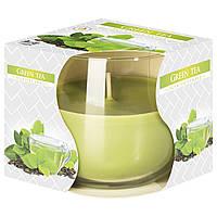 Ароматическая свеча в стекле Зеленый чай Bispol sn71s