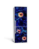Наліпка на холодильник Zatarga «Квіти контролю» 650х2000 мм вінілова 3Д Наліпка декор на кухню самоклеюча