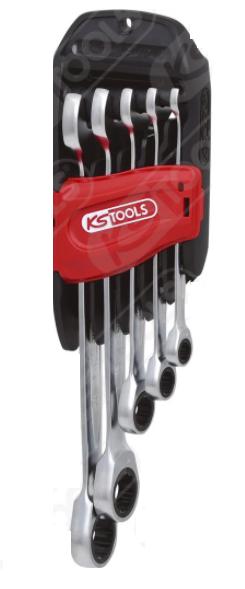 Набор комбинированных ключей с трещоткой, 15 ° 8-19mm. 503.4255 KS Tools