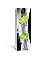 Наклейка на холодильник Zatarga «Купание лайма» 650х2000 мм виниловая 3Д наклейка декор на кухню самоклеящаяся