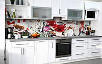 Скинали на кухню Zatarga «Два товариша» 600х2500 мм вінілова 3Д Наліпка кухонний фартух самоклеюча, фото 1
