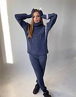 Шикарный вязанный костюм с фирменным шевроном, фото 1