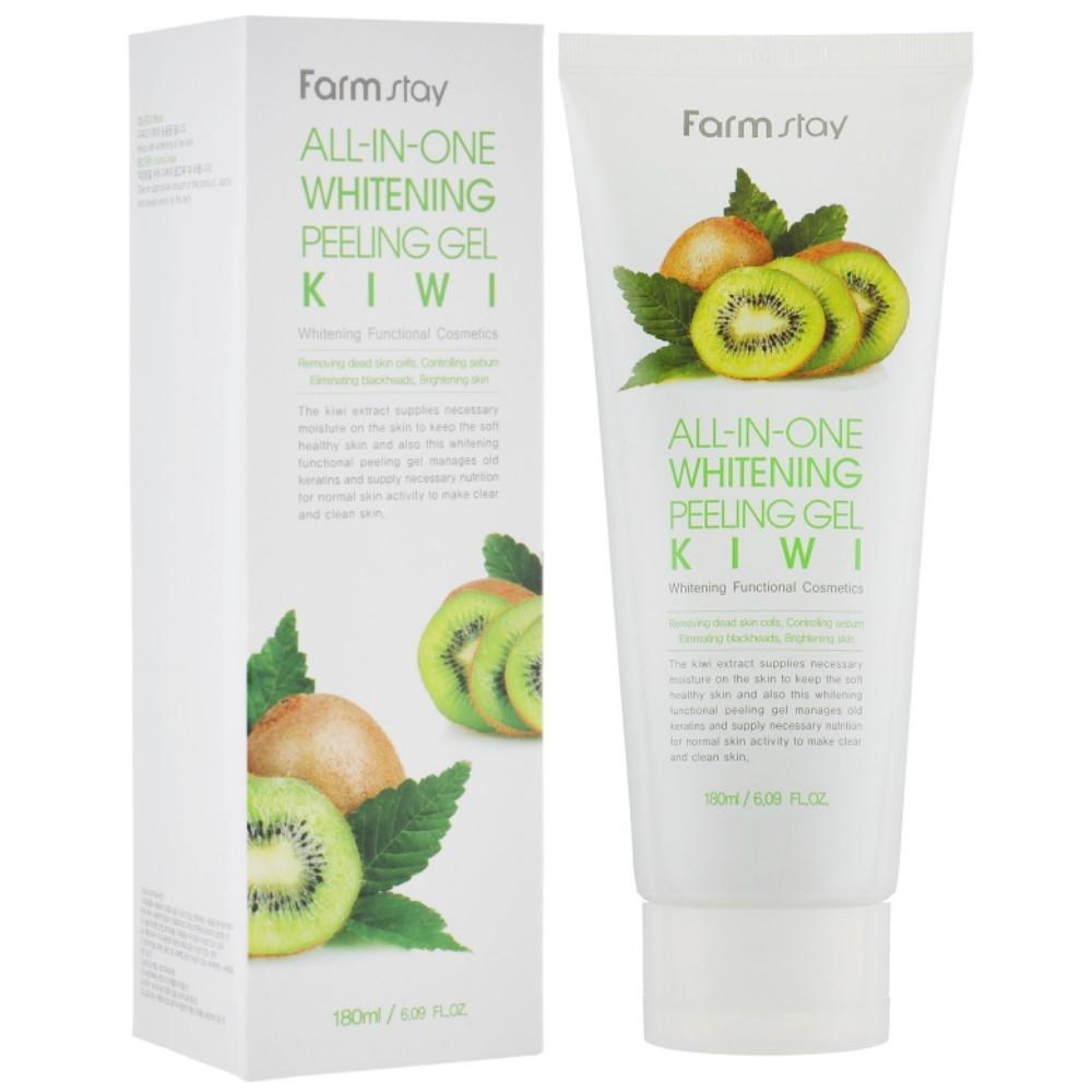 Освежающий пилинг-гель для лица с экстрактом киви Farmstay All In One Rehresh Peeling Gel Cream Kiwi 180 мл