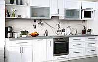 Скинали на кухню Zatarga «Чорно-біла ніжність» 600х2500 мм вінілова 3Д Наліпка кухонний фартух, фото 1