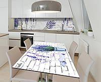 Наклейка 3Д виниловая на стол Zatarga «Чувственная лаванда» 650х1200 мм для домов, квартир, столов, кофейн,