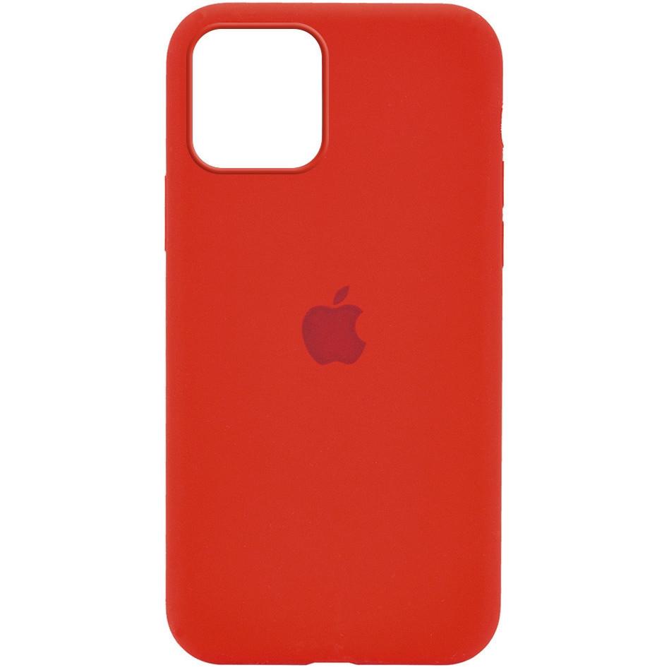 Силиконовый чехол Silicone case full cover для Apple iPhone 12 / 12 Pro | Red | DK