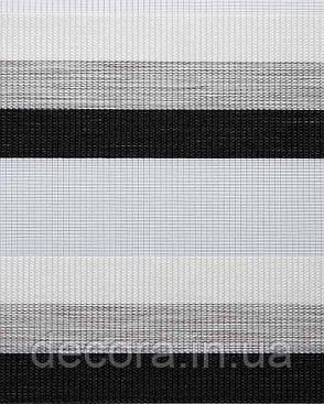 Рулонні штори день-ніч Зебра тріо, фото 2