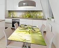 Наклейка 3Д виниловая на стол Zatarga «Солнце в оливковом саду» 650х1200 мм для домов, квартир, столов,