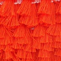 Хлопковая тесьма с кисточками Оранжевая