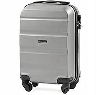 Дорожный чемодан wings AT01 серебристый размер XS(мини), фото 1