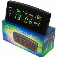 Настольные электронные часы Caixing CX 868 LED Digital Clook с 8 будильниками и термометром