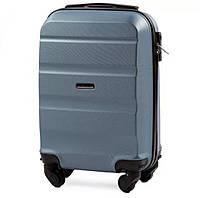 Дорожный чемодан wings AT01 silver blue размер XS(мини), фото 1
