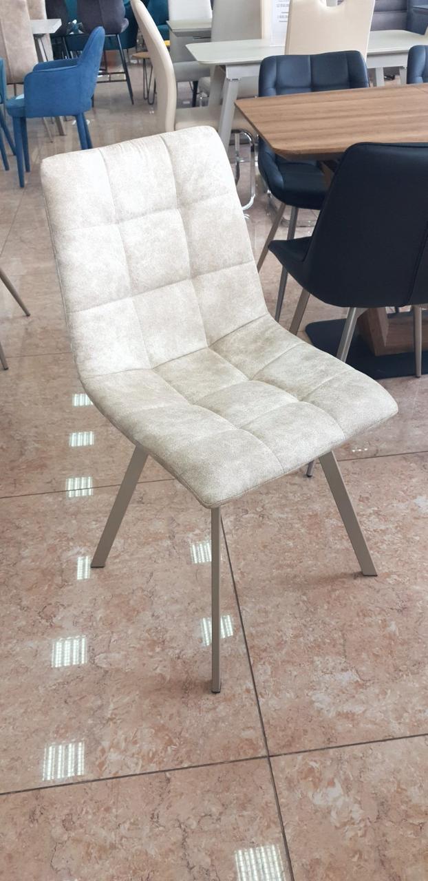 Обеденный стул N-47 капучино нубук + металл (капучино) от Vetro Mebel