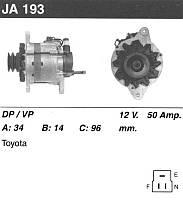 Генератор відновлений Toyota Dyna, Toyota Hiace, Toyota Hilux, Toyota Land Cruiser, Toyota Ba...