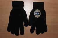 Мужские зимние перчатки Mozart, шерстяные (черные)