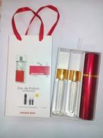 Подарочный парфюмерный набор с феромонами женский Armand Basi In Red (Арманд Баси ин Ред) 3x15 мл