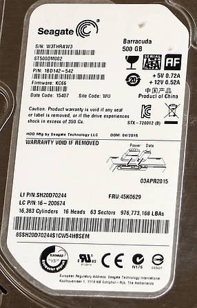 "Жесткий диск 3.5"" SATA 500GB Seagate Barracuda б/у, фото 2"