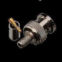 Коннектор для передачи видеосигнала Green Vision GV BNC/M (RG58) crip, фото 1