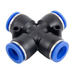 Соединение цанговое для полиуретановых шлангов PU/PR (Х-обр., шланг) 12мм AIRKRAFT SPZA12