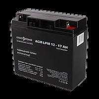 Аккумулятор кислотный AGM LogicPower LPM 12 - 17 AH, фото 1