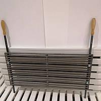 Чугунная решетка гриль 72х32 см с ручками, 17 прутьев (арт. BBQ-011), фото 1