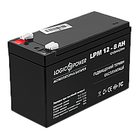 Аккумулятор кислотный AGM LogicPower LPM 12 - 8,0 AH