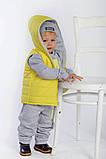 Утепленный детский костюм тройка gap, фото 7
