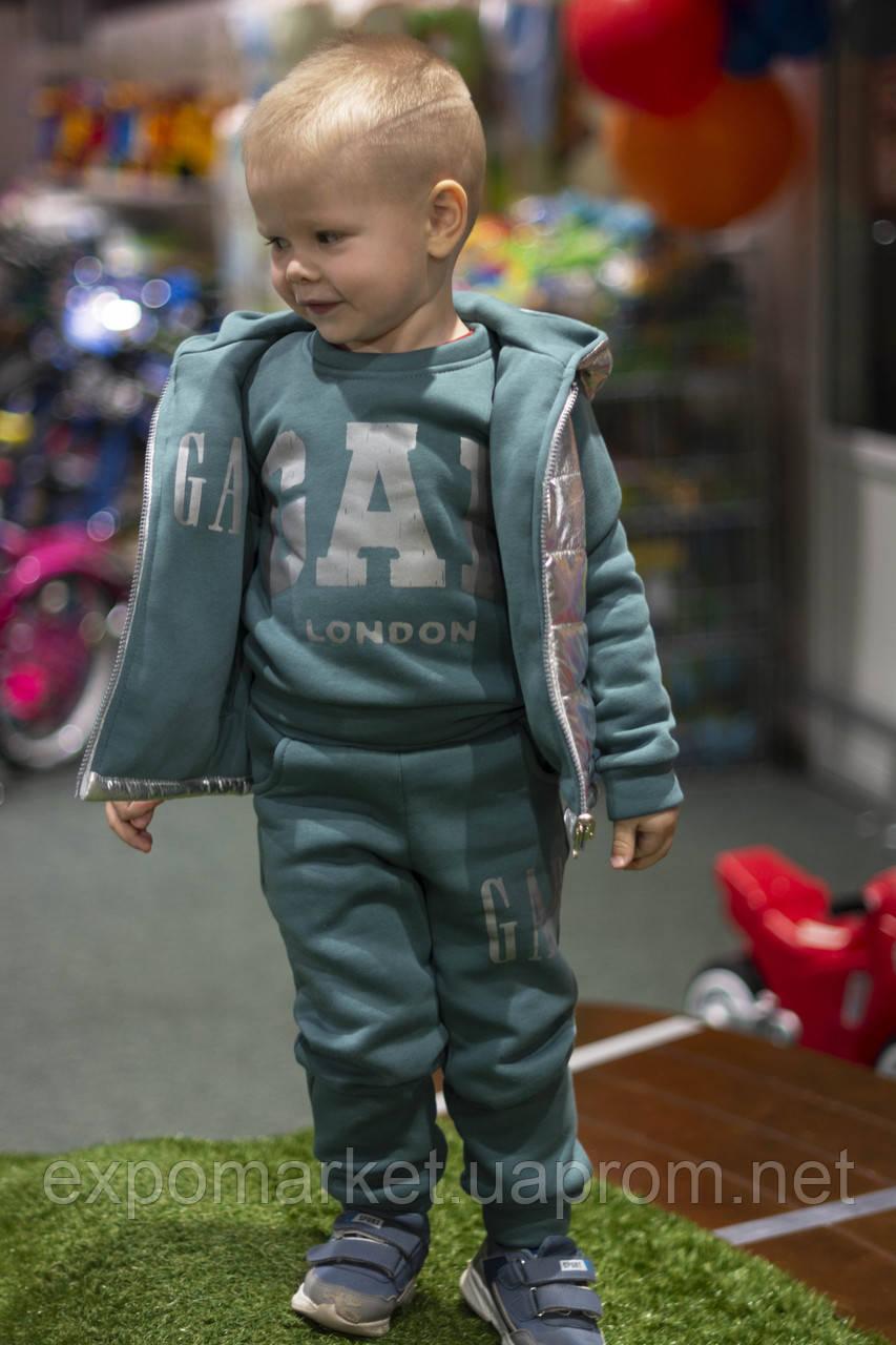 Утепленный детский костюм тройка gap