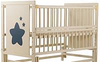 Кровать детская с ящиком на маятнике Слоновая кость Зирочка