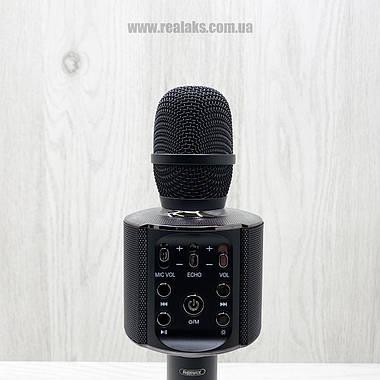 Портативный беспроводной блютуз микрофон Remax K05 (Black), фото 2