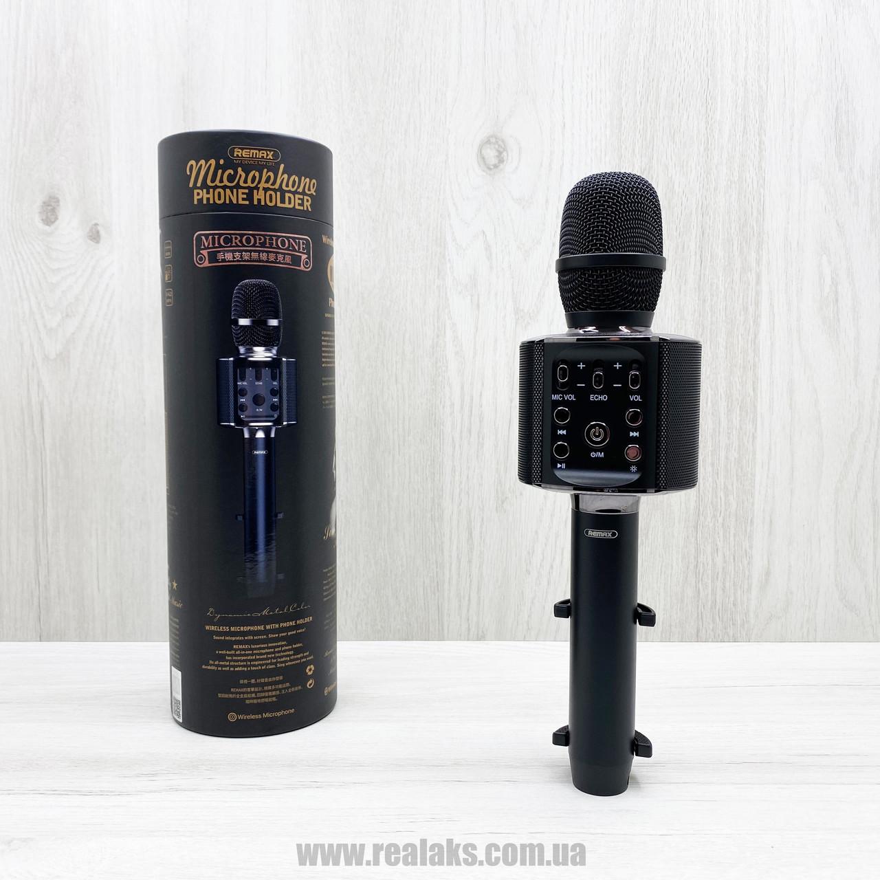 Портативный беспроводной блютуз микрофон Remax K05 (Black)