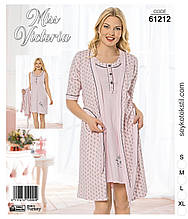 Комплект з халатом ,Miss Victoria 61212