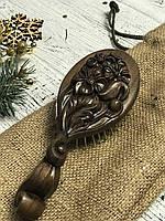 Расчёска для волос из дерева ручной работы, фото 1