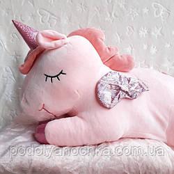 Іграшка-плед-подушка Єдиноріг казковий 🦄  60х30 розмір іграшки.