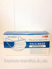 Маска защитная Face Mask голубая 50 шт.