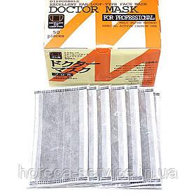 Защитная маска DOCTOR MASK с угольным фильтром четырехслойная в индивидуальной упаковке 50 шт.