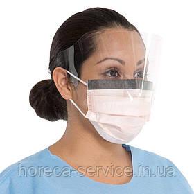 Процедурная маска с козырьком Halyard Health Tecnol Fluidshield  4 уровня защиты 25 шт.