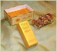"""""""Слиток золота"""" натуральное подарочное мыло ручной работы"""