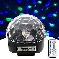 Лазер диско YX-024-M4/XC-01 пульт ДУ, флешка ( Диско шар колонка)