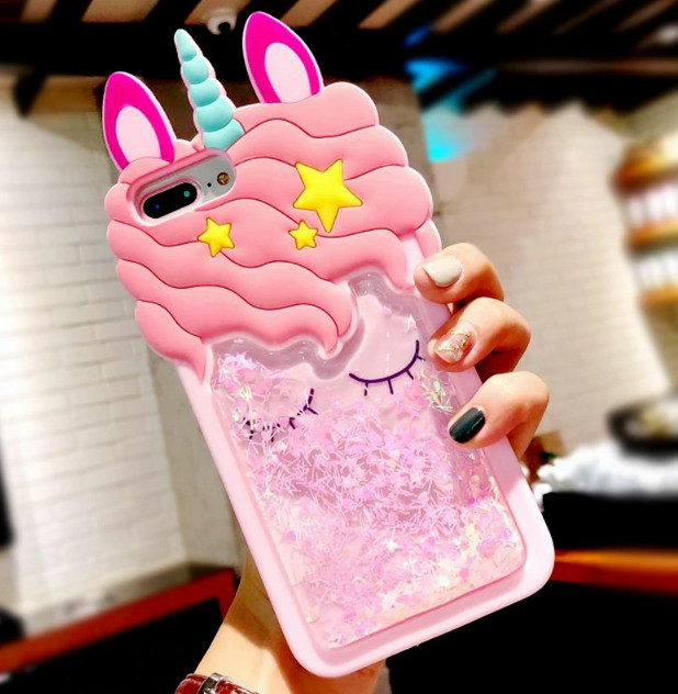 3D чехол жидкие блестки Единорог для Samsung Galaxy A51